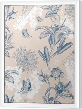 Ingelijst Canvas Retro bloem vector illustratie
