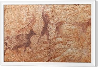 Ingelijst Canvas Rotstekeningen van Tassili N'Ajjer, Algerije