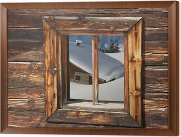 Fotobehang Skihut in de besneeuwde Alpen • Pixers® - We leven om te ...
