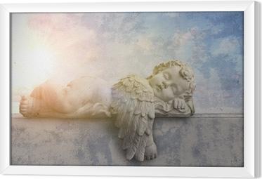 Ingelijst Canvas Slapen engel in de zon