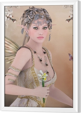 Ingelijst Canvas Spring koningin