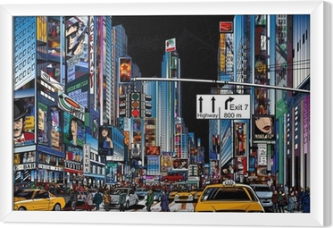 Ingelijst Canvas Straat in New York city