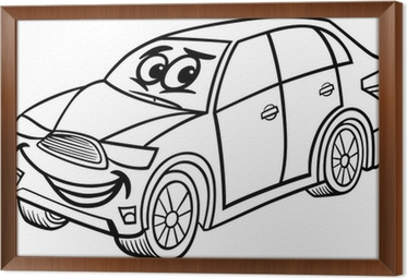Suv Car Cartoon Coloring Page Poster Pixers We Live To Change