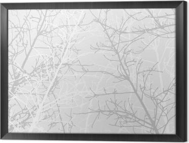 Ingelijst Canvas Takken textuur patroon. Zachte achtergrond.