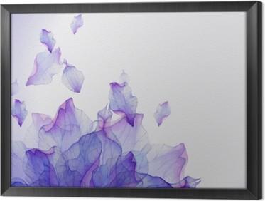 Ingelijst Canvas Waterverfkaart met Purper bloemblaadje