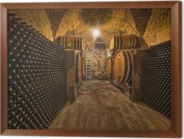 Fotobehang wijnkelder met flessen en eiken vaten u2022 pixers® we