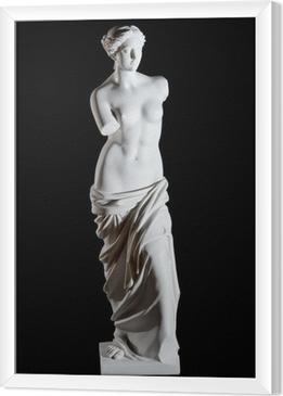 """Ingelijst Canvas Wit marmer klassieke standbeeld """"Aphrodite van Milos"""" geïsoleerd"""