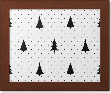 Behang Met Stippen : Behang zwart en wit eenvoudige naadloze kerst patroon gevarieerd