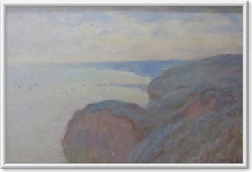 Ingelijste Poster Claude Monet - Kliffen in de buurt van Dieppe