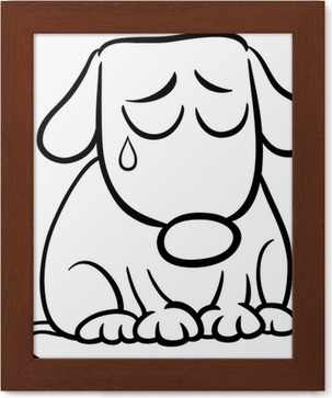 Sad Dog Cartoon Coloring Page Poster Pixers We Live To Change