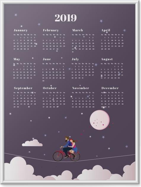 Ingelijste Poster Kalender 2019 - reis -