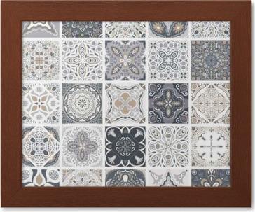 Keramische Portugese Tegels : Poster traditionele sierlijke portugese decoratieve tegels azulejos