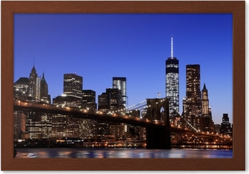 Quadro Em Tela Brooklyn Bridge And Manhattan Skyline , New York City U2022  Pixers®   Vivemos Para Mudar