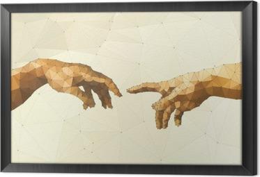 Innrammet lerret Abstrakt Guds hånd vektor illustrasjon