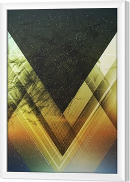 Innrammet lerret Abstrakt trekant fremtidig vektor bakgrunn