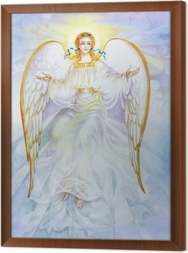 Innrammet lerret Akvarell Angel