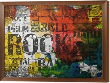 Innrammet lerret Grunge rockmusikk plakat