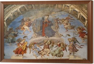 Innrammet lerret Roma - hellig Maria i himmel og engler