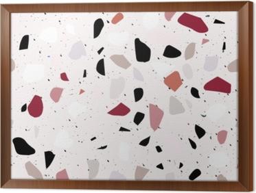 Innrammet lerret Terrazzo sømløs mønster. abstrakt bakgrunn
