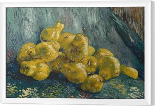 Innrammet lerret Vincent van Gogh - Fortsatt liv med kveder - Reproductions