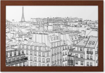 Innrammet plakat Tak i Paris
