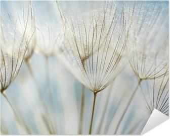 Abstrakti voikukka kukka tausta Itsestäänkiinnittyvä Juliste