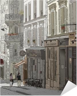Kadulla Montmartre Itsestäänkiinnittyvä Juliste