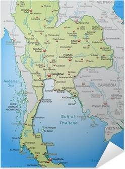 Kartta Von Thaimaa Ja Ymparistoineen Juliste Pixers Elamme
