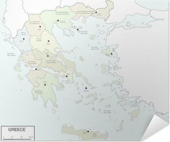 Kreikan Ristikkokartta Ja Alueet Tapetti Pixers Elamme