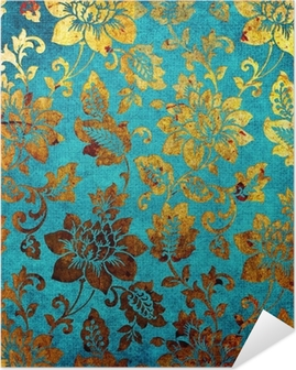 Kulta-sininen vintage tausta Itsestäänkiinnittyvä Juliste