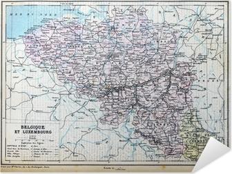 Luxemburgin Belgia Kartta Juliste Pixers Elamme Muutoksille