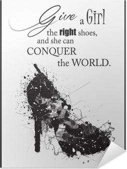 Muoti nainen kenkä Itsestäänkiinnittyvä juliste