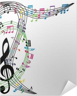 Musiikki muistiin taustalla, tyylikäs musiikkiteema Itsestäänkiinnittyvä Juliste