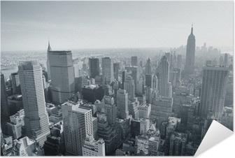 New york city skyline mustavalkoinen Itsestäänkiinnittyvä juliste