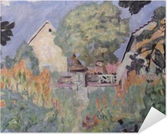 Pierre Bonnard - Kotini Vernonissa - puutarha Itsestäänkiinnittyvä juliste