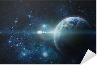 Realistinen maapallon avaruus Itsestäänkiinnittyvä juliste