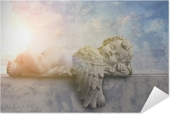 Schlafender engel im sonnenschein Itsestäänkiinnittyvä juliste