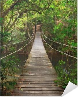 Silta viidakkoon, khao yai kansallispuisto, thaimaa Itsestäänkiinnittyvä Juliste