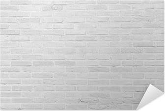Valkoinen grunge tiiliseinä tekstuuri taustalla Itsestäänkiinnittyvä Juliste