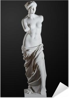 """Valkoinen marmori klassinen patsas """"aphrodite milos"""" eristetty Itsestäänkiinnittyvä juliste"""