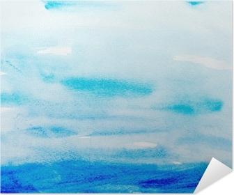 Värien lyöntiä vesiväri maalaus art Itsestäänkiinnittyvä juliste