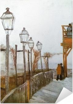 Vincent van Gogh - Terassi ja näköalatasanne Moulin de Blute-Fin, Montmartre Itsestäänkiinnittyvä juliste
