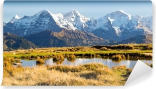 Eiger, Mönch ja Jungfrau Itsestäänkiinnittyvä Valokuvatapetti