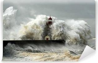 Tuulinen rannikko Itsestäänkiinnittyvä Valokuvatapetti