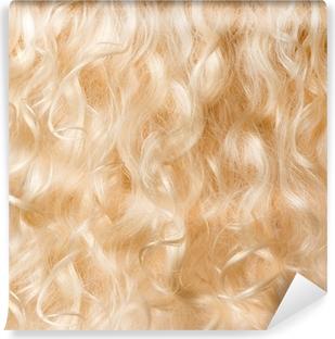 Vaaleat hiukset tausta. pitkät kiharat hiukset Itsestäänkiinnittyvä  valokuvatapetti d55ad423a8