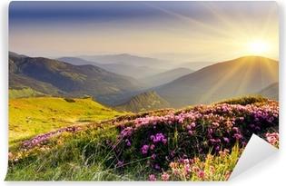 Vuorenmaisema Itsestäänkiinnittyvä valokuvatapetti