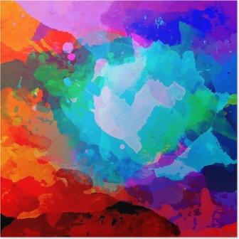 Abstrakti vesiväri paletti sekoittaa värejä Juliste