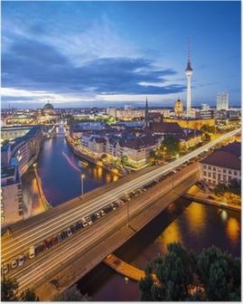 Berlin, saksa skyline kohtaus Juliste
