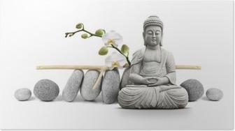 Bouddha et bien-être Juliste