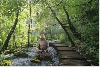 Bouddha et sérénité Juliste